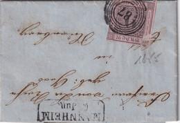 BADEN 1855 LETTRE DE MANNHEIMN - Baden