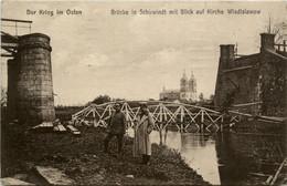Brücke In Schirwindt Mit Blick Auf Kirche Wladislawow - Ostpreussen