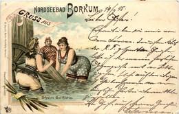 Gruss Aus Borkum - Litho - Borkum