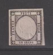 PROVINCE  NAPOLETANE:  1861  EFFIGIE  IN  RILIEVO  -  1 Gr. NERO  S.G. -  SASS. 19 - Non Classés