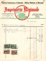 Imprimés Commerciaux Et Industriels - Affiches Théatrales Et Notariales - Imprimerie Régionale - Gilly 1962. - Imprenta & Papelería