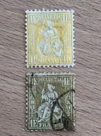 N° 41 X Et 41 Oblitéré 1 FR OR (dents Courtes En Inf) Cote YT 95€ Pour études Diverses - Used Stamps