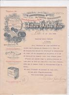 59-J.Delos Fils..Tissus Industriels, Filtres Pour Huiles.....Lille.(Nord)...1900 - Altri