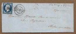 BUXY : 1855 : PC 569 + Boite Rurale  M ( Non Identifiée )  Sur Lettre Avec Cachet à Date Type 15   ( Saône Et Loire ) : - 1849-1876: Periodo Classico
