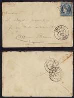 RELIZANE - ALGERIE / 1870 GC 5058 SUR LETTRE POUR AIX EN PROVENCE / COTE 100.00 € (ref 1861b) - 1870 Ausgabe Bordeaux