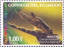 Ecuador - Smooth-fronted Caiman (Paleosuchus Trigonatus), Stamp, MNH, 2015 - Sonstige