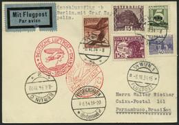 ZULEITUNGSPOST 250 BRIEF, Österreich: 1934, 2. Südamerikafahrt, Prachtkarte - Zeppelin