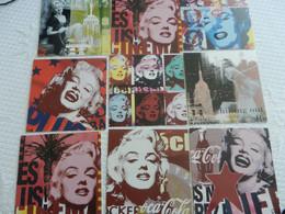 Lot 9 Cartes MARILYN MONROE   Pop Art - Mujeres