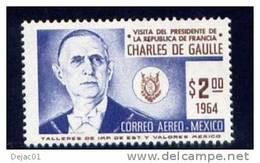 Thème Général De Gaulle - Mexique - Yvert PA 244 Neuf - De Gaulle (Generale)