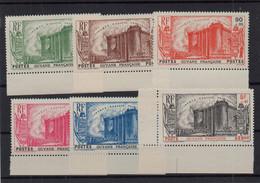 !!! PRIX FIXE : GUYANE, SERIE BASTILLE N°152/156 + PA N°19 NEUVES ** BORD DE FEUILLE - Unused Stamps