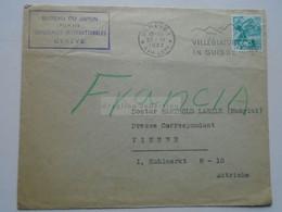 ZA335.19 Switzerland Suisse   Cover -Lettre -  Cancel Geneve 1937  Bureau Du Japon - Japan  Sent To Wien  Austria - Covers & Documents