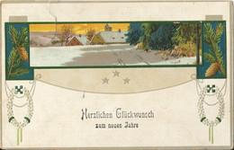 "1 062 Neujahrskarte Bahnpost ""WISMAR-LUDWIGSLUST"" 1913 - Usados"