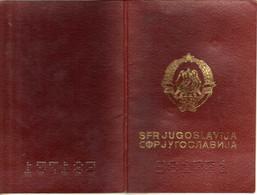 Passeport,passport, Pasaporte, Reisepass,RSF De Yougoslavie / SFR Yugoslavia - Historical Documents