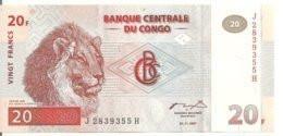 CONGO 20 FRANCS 1997 UNC P 88 - Sin Clasificación