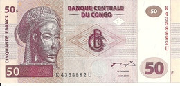 CONGO 50 FRANCS 2000 UNC P 91 - Sin Clasificación