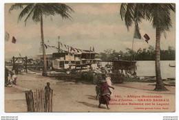 COTE D'IVOIRE GRAND BASSAM STATION DES BATEAUX SUR LA LAGUNE - Costa D'Avorio