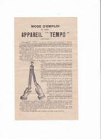 Notice  Pour Appareil Spécial A Repasser Les Lames (automatique Tempo) - 1900 – 1949
