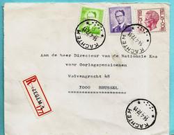 N°1029+1068B+1584 Op Aanget. Zending, Afst. KACHTEM 14/04/1972, R-vignet : Izegem - 1953-1972 Brillen