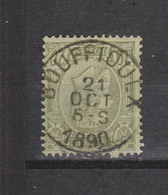 COB 47 Centraal Gestempeld Oblitération Centrale BOUFFIOULX - 1884-1891 Leopold II