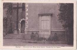 86. SAULGE. Monument Aux Morts De La Guerre. Façade Sud De L'Eglise - Altri Comuni
