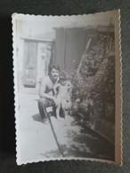 FATHER WITH YOUNG CHILD,PÈRE AVEC JEUNE ENFANT,ORIGINAL PHOTO - Personnes Anonymes