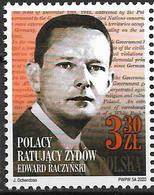 2020 Polen Polska  Mi. 5199 **MNH . Polen Retten Juden.: Edward Raczyński (1891–1993), Politiker - Unused Stamps