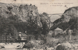 05 - Briançon (Hautes-Alpes) : Le Pont Baldy Sur La Cerveyrette Et L'usine électrique (petite Animation) - Briancon