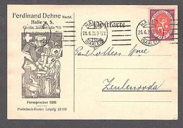 DR. Reklame-Karte , Rote Kreuz, F.Dehne, Halle Mit EF. Mi.-Nr. 110 - Non Classificati