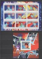 BC347 2010 GUINEE GUINEA FAMOUS PEOPLE ELVIS PRESLEY 1KB+1BL MNH - Elvis Presley
