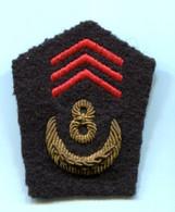 Tissu - 1 Patte De Col - AFN - 8ème Zouaves - Equipo