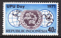 Indonesia 1971 UPU Day, Hinged Mint, SG 1291 - Indonésie