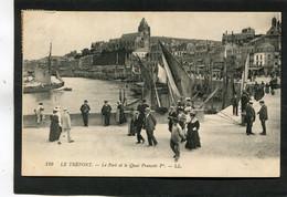 CPA - LE TREPORT - Le Port Et Le Quai François Ier, Très Animé - Le Treport
