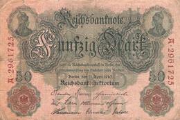 50 Mark Reichsbanknote 1910 VG/G (IV) - 50 Mark