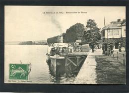 CPA - LA BOUILLE - Embarcadère Du Bateau, Animé - La Bouille