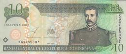 BILLETE DE REP. DOMINICANA DE 10 PESOS ORO DEL AÑO 2003 SERIE KG EN CALIDAD EBC (XF) (BANKNOTE) - Dominicana