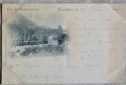 (88).GERARDMER.PRECURSEUR.TRAIN VAPEUR.CIRCULE 1899.TBE. - Gerardmer
