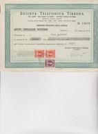 MODULO  : SOCIETA'  TELEFONICA  TIRRENA   -ANTICIPO CONVERSAZIONI INTERURBANE.  GENOVA  1947 - Italia