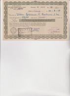MODULO  : STIPEL  -  RICEVUTA DA LORE 500  DELL'UFFICIO DI  TORINO  1948 - Italia