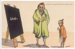 CPA HUMOUR ALORS T'Y COMPRENDS TOUJOURS PAS ? PAR DUMONT - ALGERIE - ECOLIER - ANE - TABLEAU - Otros Ilustradores