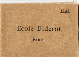 75-PARIS 19 ème -ECOLE PROFESSIONNELLE DIDEROT 1933-DIM 28.5X19.5 CM - School