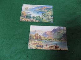 VINTAGE SCOTLAND: Loch Earn X2 Art Tuck Oilette Textured - Stirlingshire