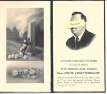 GENEALOGIE -  Messire Yvan Fernand Marie Ghislain Baron KERVYN D'OUD MOOREGHEM Décès Le 24/5/1952 à 51 Ans - Obituary Notices