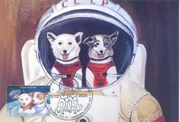 2020. Transnistria, Space, Dogs-Cosmonauts, Maxicard,  Mint/** - Moldavia