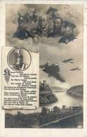Zeppelin - Kanonen Brennen - Feldpost Ersatzabteilung Königl. Sächs. Jägerbattalion - Luchtschepen