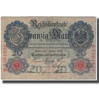Billet, Allemagne, 20 Mark, 1908, KM:31, TB - 20 Mark