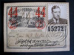 PORTUGAL - COMPANHIA CARRIS DE FERRO DE LISBOA - PASSE BILHETE DE ASSINATURA - OLD TICKET - Europa