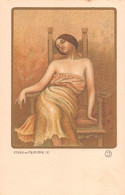 Illustrateur PAUL BERTHON - ETUDE De FEMME De FEMME (2) De La Série D'Art Avec Poudre D'Or Estampes Originales. - Berthon