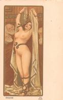 """Illustrateur PAUL BERTHON - PHRYNÉ De La Série D'Art Avec Poudre D'Or Estampes Originales.Edition Du """"Cartophile"""" - Berthon"""