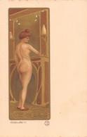 """Illustrateur PAUL BERTHON -ETUDE De NU(A) De La Série D'Art Avec Poudre D'Or Estampes Originales.Edition Du """"Cartophile"""" - Berthon"""