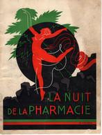 PARIS-UN PROGRAMME 1935-GRAND BAL  LA NUIT DE  LA   PHARMACEUTIQUES  AVEC  PLUSIEURS PUBLICITES  ET SIGNE - Programma's